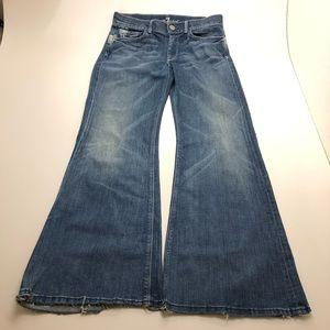 7 for all men kinda flare blue  size 30 jeans